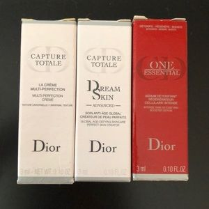 New! Dior creme/ serum travel sizes lot of 3